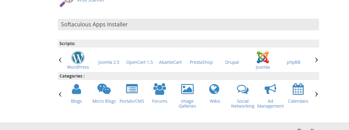 Softaculous Apps Installer on Future Hosting cPanel Interface