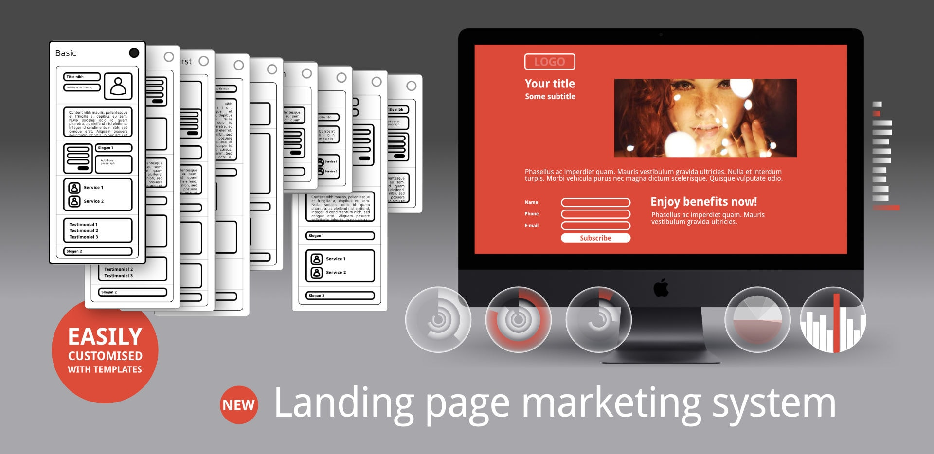 Landing page marketing system