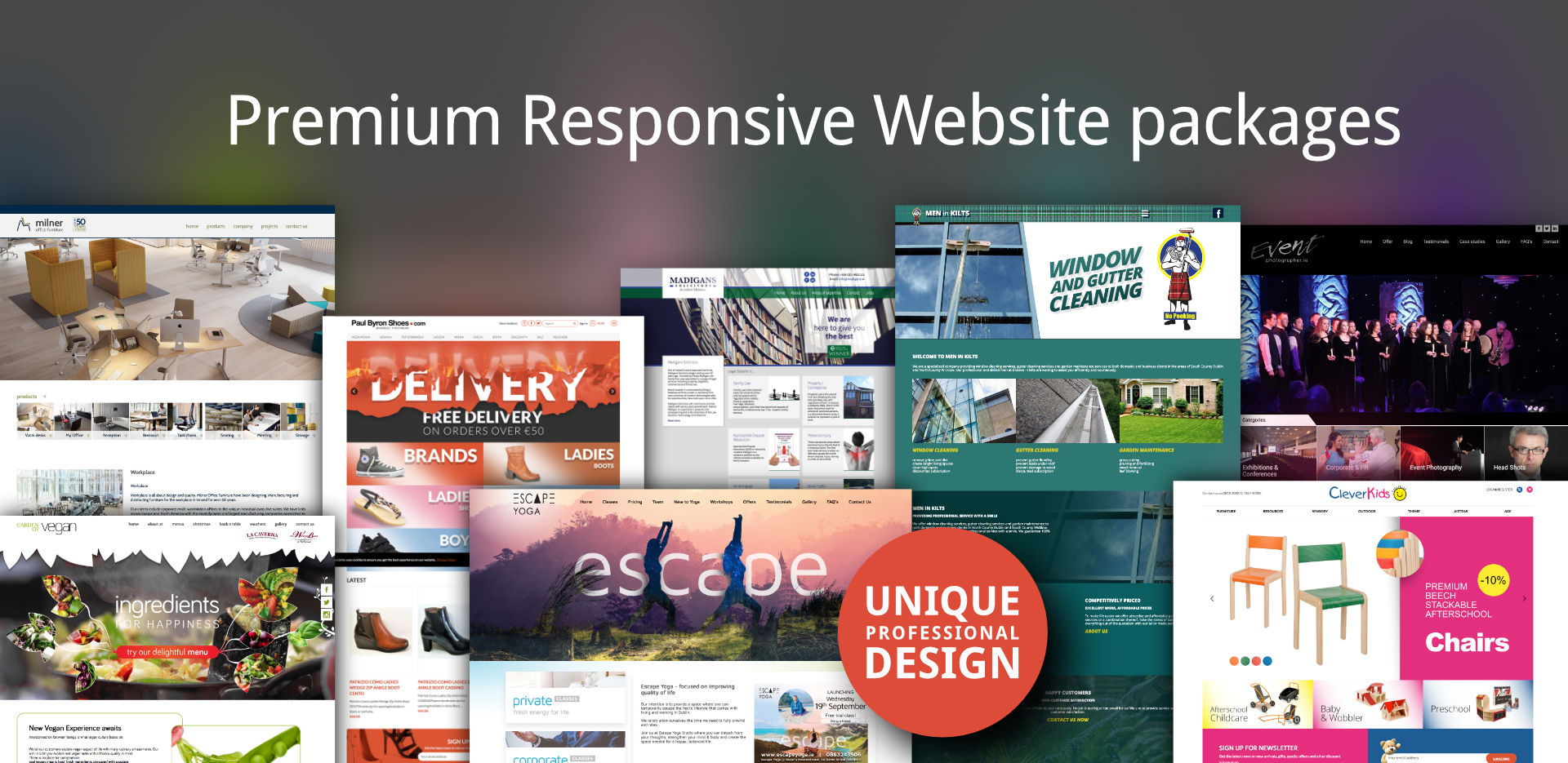 Premium Responsive Website packages